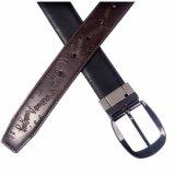 2018 Fashion Men's Split Leather Belts with Reversible Buckle