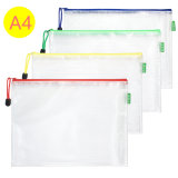 PVC A4 Stationery Paper Storage Portable Ziplock Office School Document File Bag