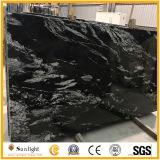 Natural New Black Granite/Stone, Nero Fantasy Granite Slabs for Floor and Kitchen Countertop