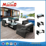 High Quality Wicker Furniture Rattan Sofa Set for Garden with Aluminum Frame
