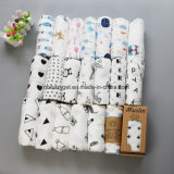Baby Cotton Muslin Swaddle Blankets Gift Set Baby Muslin Swaddle Blankets Nursery Swaddling Blanket Shower Gift Sets Breathable Soft Esg10242