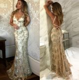 Spaghetti Prom Party Celebrity Dresses Eliesaab Hand Beading Evening Dress Es10