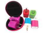 Portable Universal USB Wall Charger Us Flat Plug Cell Phone Charger