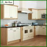 American Style Cherry Wood Grain Melamine Kitchen Cabinet