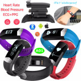 2017 Latest Model of Heart Rate Blood Pressure Blood Oxygen ECG/PPG Bluetooth Smart Bracelet
