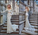 Long Sleeves Bridal Gown Lace Two Pieces Wedding Dress Gv1604