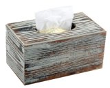 Wood Craft Fsc Pine Wood Handmade Wash White Finished Wood Tissue Package Box
