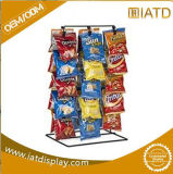 Pop up Chrome Wire Steel Counter Display Snack Shelf