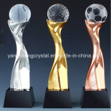 Home Crafts Crystal Gold Silver Cup Metal Trophy