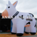 New Inflatable Milk Cow Cartoon Character for Outdoors Advertising