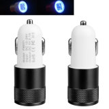 Shenzhen Customized OEM LED Indicator 5V 2.1A Dual Ports Car Charger for Mobile Phone