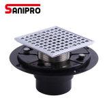 Sanipro Brass Floor Drain Cover+Plastic Bottom for USA Market