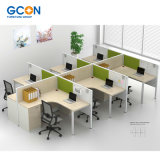 Great Price Fashion Style Modern Office 6 Person Workstation Furniture