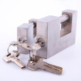 Lemen Whosale 304# Stainless Steel Safety Door Warehouse Gate Security Rectangle Stonger Padlock
