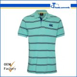 Customized Wholesale 65 Cotton, 35 Polyester Yarn Dyed Polo Shirts for Men