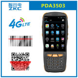 Qualcomm Quad Core 4G Android 5.1 Supermarket Wireless Handheld Industrial Mobile PDA 1d 2D Barcode Scanner Terminal with Display Zkc PDA3503