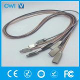 Zinc Alloy Stainless Steel Metal Tube USB Data Android Cable