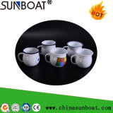 Qualified Enamel Mug, Coffee Cup, Milk Cup with Rolling Rim