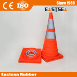 Orange ABS Plastic Retractable LED Light Traffic Cone