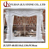 White Marble Classic Style Fireplace Mantel