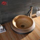 Junyi Ceramic Wash Basin Art Basin Sink Lavabo Antique Handmade Imitate Stone Artistic Ceramic Art Room Sink for Garden