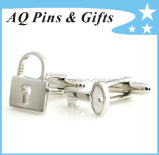 Cuff Links with Lock and Key Shape
