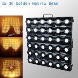 3W LED Golden Matrix Beam Light 36PCS LED