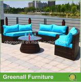 Semi-Round/Half Round Rattan Outdoor Sectional Sofa Garden Wicker Furniture