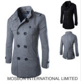 New Fashion Men′s Wool Coat with Long Sleeves for Winter