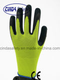 Latex Sandy Outer Assembly Work Gloves