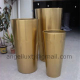 Luxury Fashion Style Garden Flower Pot Stainless Steel Material Planter Pot
