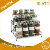 Two Tier Metal Wire Supermarket Display Pepper Shelf