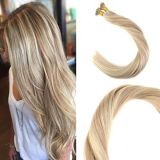 Cheap Price High Quality Beautiful Hair Extension I-Tip Straight Human Hair 18/613# for Women
