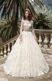 OEM Long Sleeve Muslim Bridal Wedding Gown Dress (BH004)