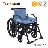 Fully Plastic Material Made Plastic Hospital Wheelchair