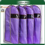 Cheap Purple PE Plastic Zipper Suit Garment Bag
