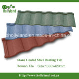 Roman Type Stone Chips Coated Metal Alu-Zinc Roof Tile
