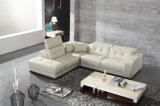 Modern Simple Living Room Leather Sofa with Corner (HC7342)