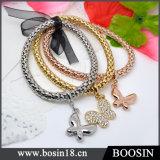 Fashion Jewelry Gold/Silver Hemp Rope Metal Bracelet #31477