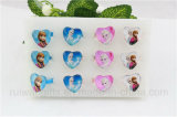 Fashion Heart Shape Glass Frozen Rings for Kids Ring Jewelry