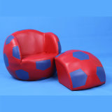 Sport Furniture Children Leather Sofa and Ottoman/Children Chair/Kids Furniture (SF-127)