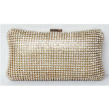 Cheap Wholesale Leather Clutch Bag for Party, Customized Trendy Bling Beaded Crystal Evening Bag