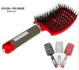 Detangle Curved Hair Brush Hot Sales Plasitc Hairbrush