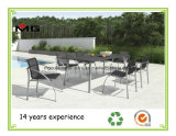 Metal Garden Tables Outdoor Dining Furniture with Stone Table Top
