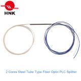 1: 2 Steel Tube Type Fiber Optic PLC Splitter