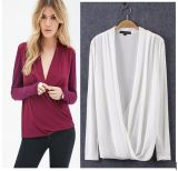 OEM Plus Size Fat Women Long Sleeve Elegant Blouse