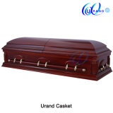 Mahogany Color Matt Gloss Velvet New Design Casket and Coffin
