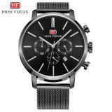 Mini Focus Competitive Price Quartz Wrist Watch with Black Dial