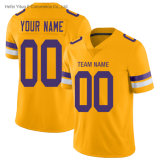 Minnesota Wholesale Gold Inverted Knitted Fabrics Dry Fit Football Garment