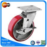 Heavy Duty Wheel Lock Industrial Casters with PU Steel Wheels